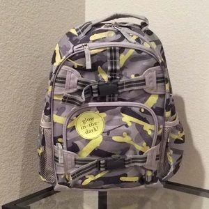 NWOT kid size skateboard camo backpack